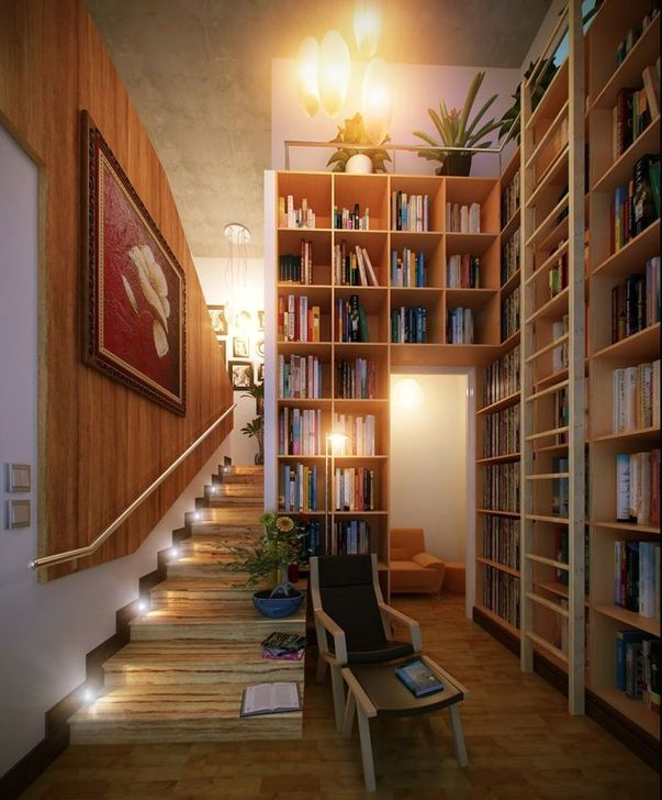 Wonderful Home Library Design Ideas To Make Your Home Look Fantastic 56