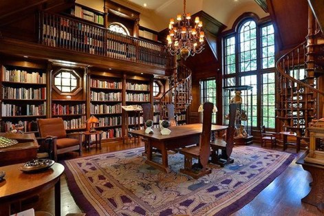 Wonderful Home Library Design Ideas To Make Your Home Look Fantastic 60