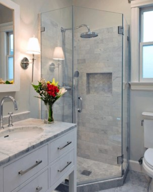 Amazing Bathroom Shower Remodel Ideas On A Budget 43