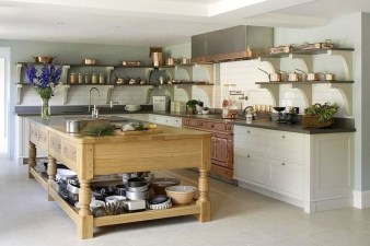 Classy Wooden Kitchen Island Ideas For Your Kitchen 18