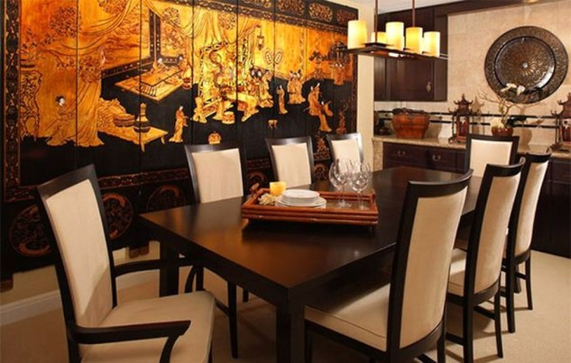 59 Cozy Asian Dining Room Design Ideas - HOMYSTYLE