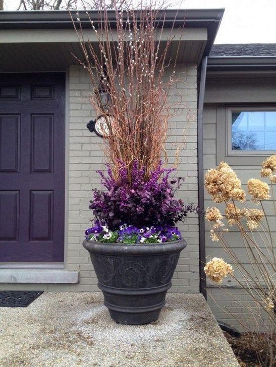 Creative Front Door Flowers Pot Ideas 14