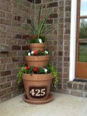 Creative Front Door Flowers Pot Ideas 17