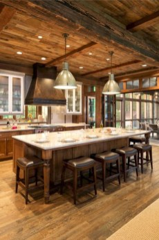 Magnificient Open Plan Kitchen With Feature Island Ideas 09