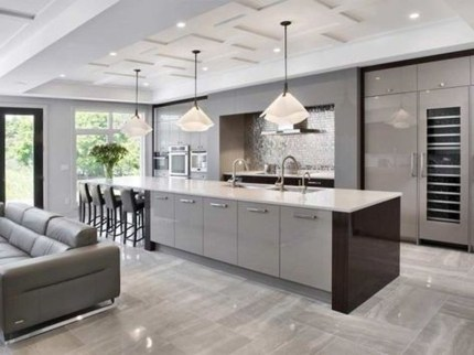 Magnificient Open Plan Kitchen With Feature Island Ideas 12