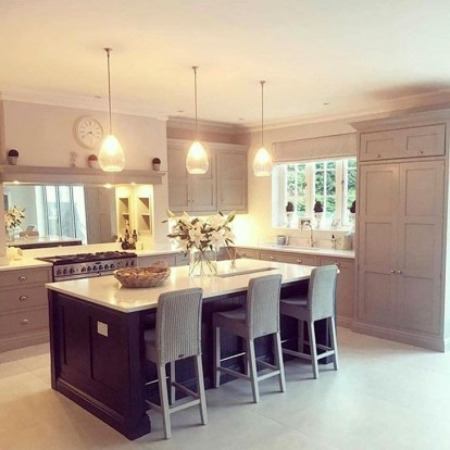 Magnificient Open Plan Kitchen With Feature Island Ideas 44