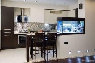 Modern Aquarium Partition Ideas For Living Room 09