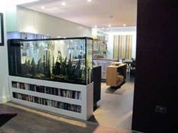 Modern Aquarium Partition Ideas For Living Room 39