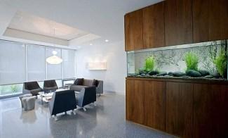 Modern Aquarium Partition Ideas For Living Room 44