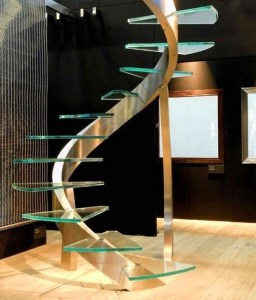 Perfect Glass Staircase Design Ideas 28