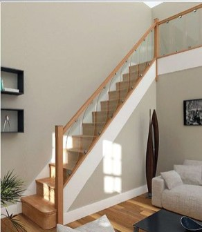 Perfect Glass Staircase Design Ideas 44