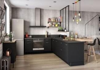 Stunning Dark Grey Kitchen Design Ideas 04