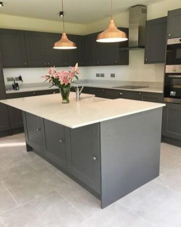 Stunning Dark Grey Kitchen Design Ideas 07