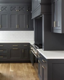 Stunning Dark Grey Kitchen Design Ideas 13