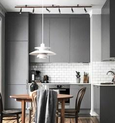 Stunning Dark Grey Kitchen Design Ideas 18