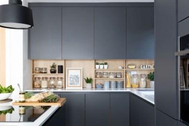 Stunning Dark Grey Kitchen Design Ideas 27