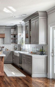 Stunning Dark Grey Kitchen Design Ideas 32