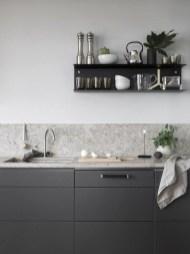 Stunning Dark Grey Kitchen Design Ideas 35