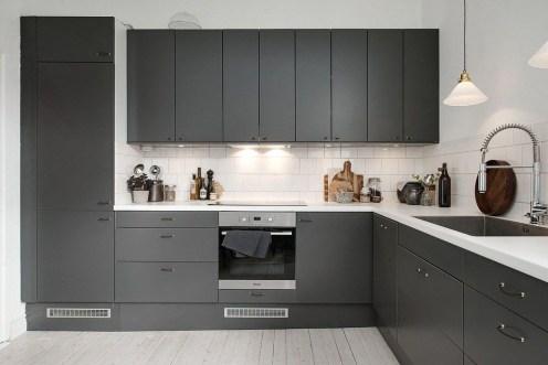 Stunning Dark Grey Kitchen Design Ideas 42