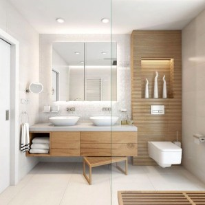 Elegant Wood Decor Ideas For Your Bathroom Design 19