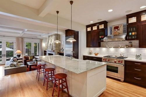 Inspiring Open Concept Kitchen You'll Totally Love 04