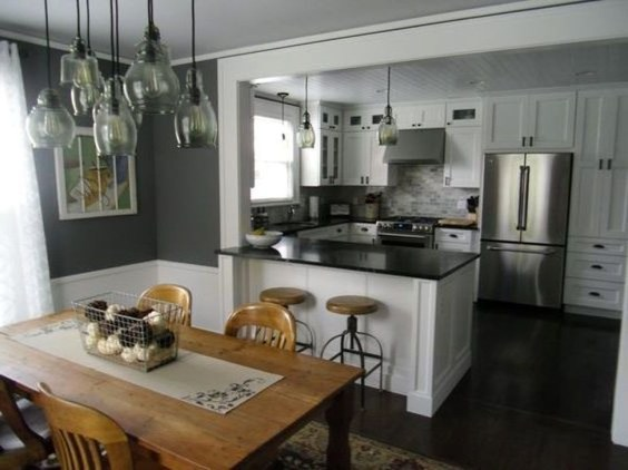 Minimalst Open Concept Kitchen And Dining Room Design Ideas 07