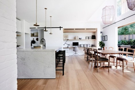 Minimalst Open Concept Kitchen And Dining Room Design Ideas 39