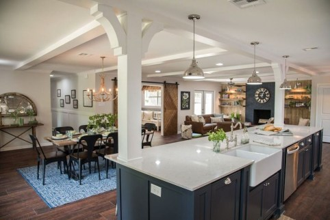 Minimalst Open Concept Kitchen And Dining Room Design Ideas 42