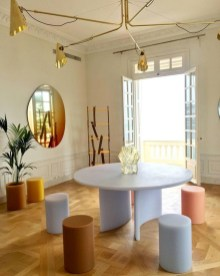 Modern Round Dining Table Design Ideas For Inspiration 26
