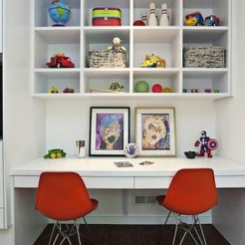 Stunning Desk Design Ideas For Kids Bedroom 35