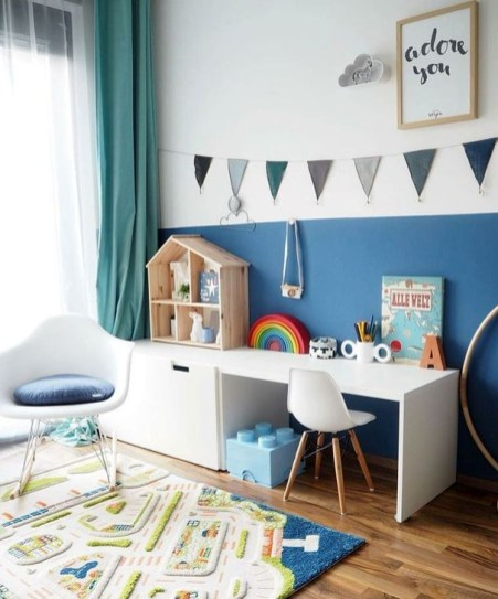 Stunning Desk Design Ideas For Kids Bedroom 36
