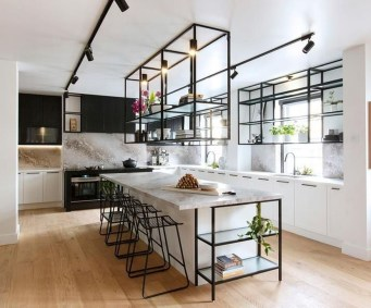 Attractive Kitchen Design Ideas With Industrial Style 28