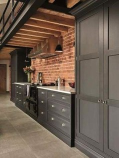 Attractive Kitchen Design Ideas With Industrial Style 39