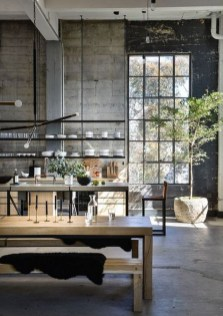 Attractive Kitchen Design Ideas With Industrial Style 41