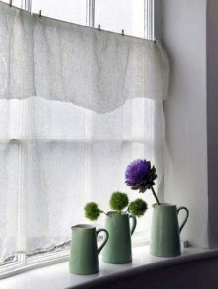 Beautiful White Curtains For Home With Farmhouse Style 04