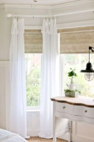 Beautiful White Curtains For Home With Farmhouse Style 34