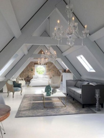 Comfy Attic Bedroom Design And Decoration Ideas 51