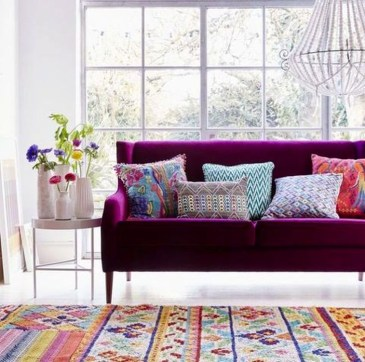Cute Purple Living Room Design You Will Totally Love 01