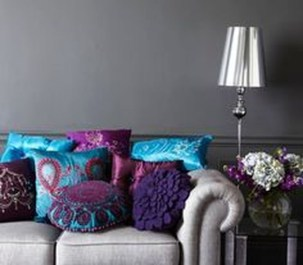 Cute Purple Living Room Design You Will Totally Love 13