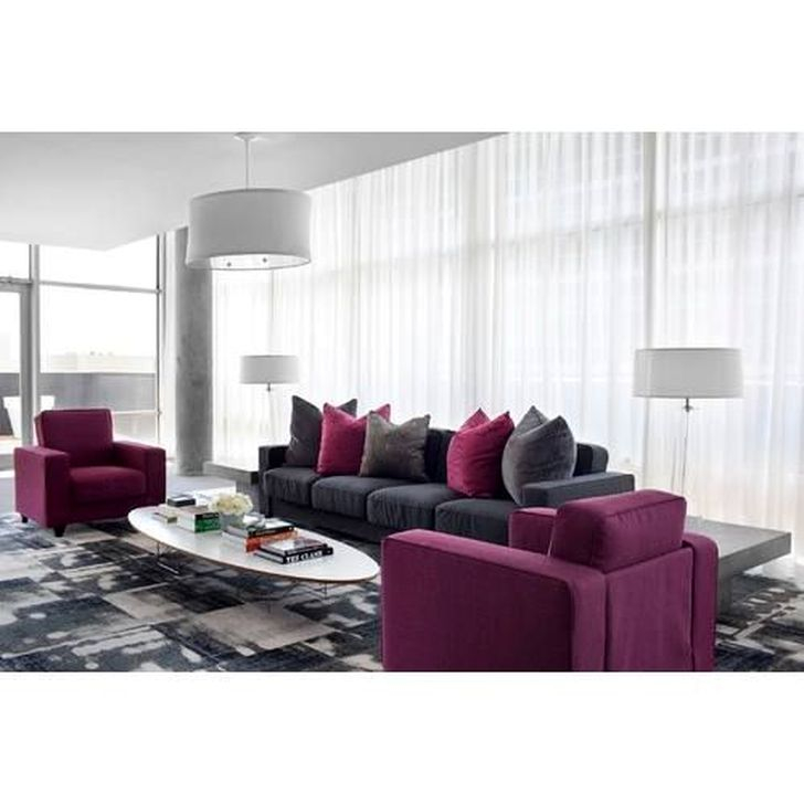 Cute Purple Living Room Design You Will Totally Love 39