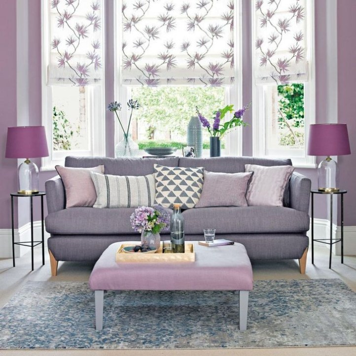 Cute Purple Living Room Design You Will Totally Love 41