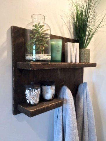 Easy DIY Towel Racks Ideas That You Can Do This 08