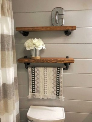 Easy DIY Towel Racks Ideas That You Can Do This 26