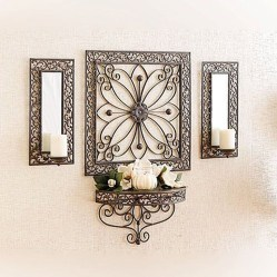 Fabulous Metal Wall Decor Ideas For Your Living Room 09