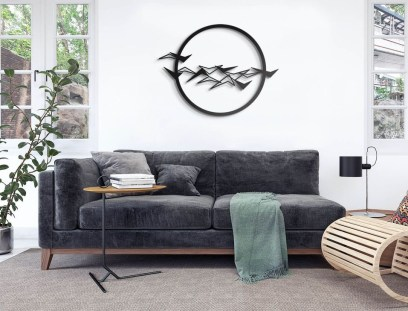 Fabulous Metal Wall Decor Ideas For Your Living Room 20