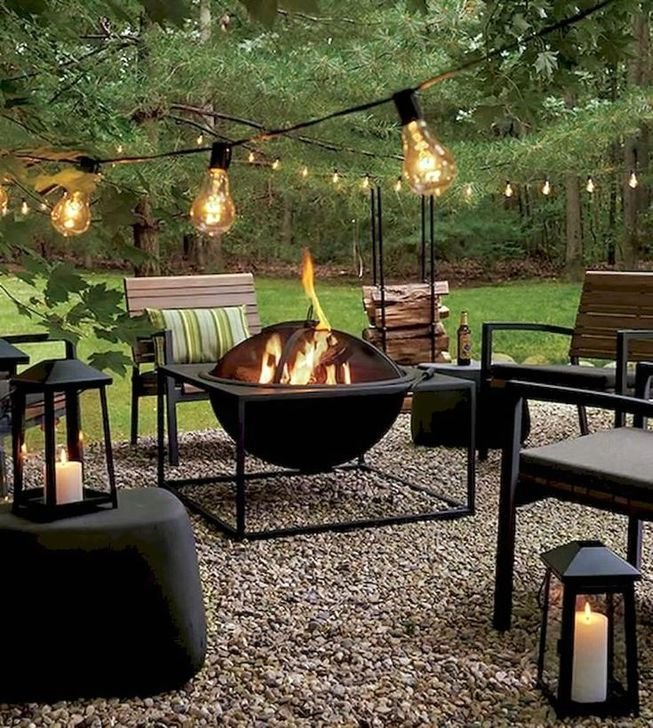Impressive Seating Area In The Garden For Decoration 30