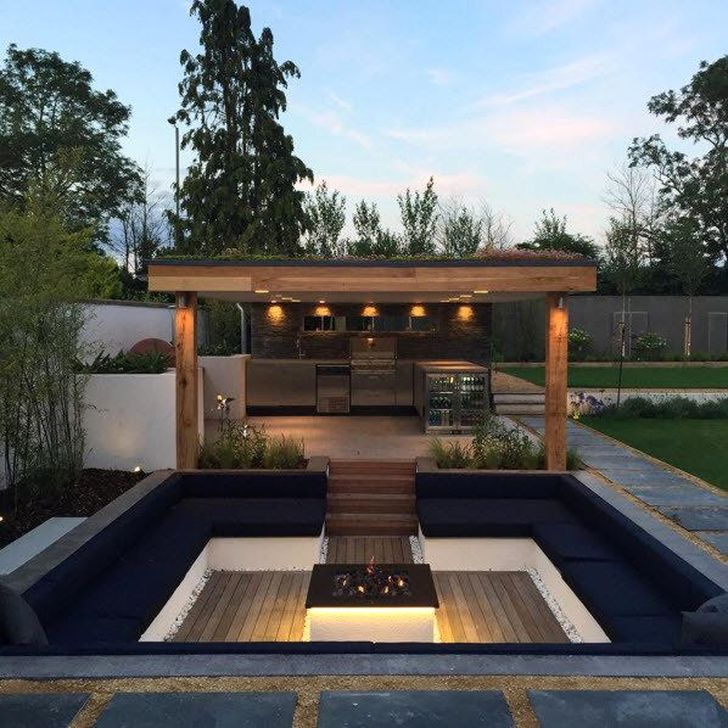 Impressive Seating Area In The Garden For Decoration 31