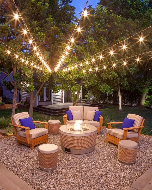 Impressive Seating Area In The Garden For Decoration 45