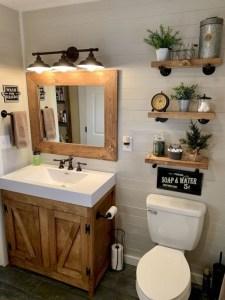 Inspiring Bathroom Decoration Ideas With Farmhouse Style 29