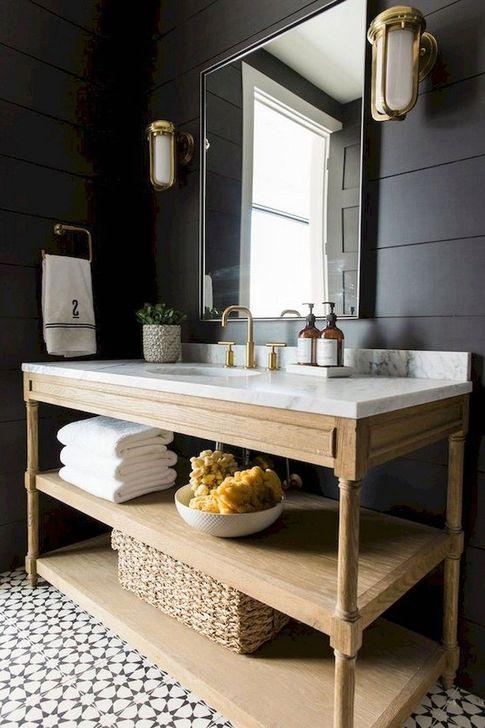 Inspiring Bathroom Decoration Ideas With Farmhouse Style 45